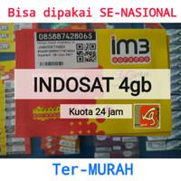 kartu perdana internet indosat im3 4gb kuota data 2gb+ 2 gb mentari 60