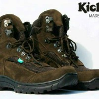 Sepatu Pria Safety Boots Kickers Suede Leather Material Brown Black