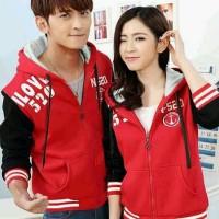100rb lt CP jaket 520 merah sepasang, bahan babyterry, fit L