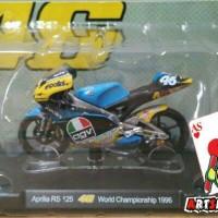 Diecast Miniatur Motor Leo Models 1:18 Valentino Rossi 1996 GP 125