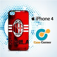 Custom Casing HP Iphone 4 4s AC Milan Hard Case, Cover
