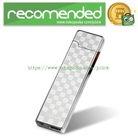 Korek Elektrik Aluminium USB Cigarette Lighter Heating Coil - Silver