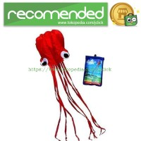Layang-Layang Lucu Model Gurita Raksasa 4M Waterproof - Red