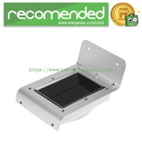 Lampu Solar Sensor Gerak Outdoor 16 LED Weatherproof - Silver
