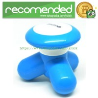 Mini Relaxing Electric Massager Handheld Vibrating - Blue