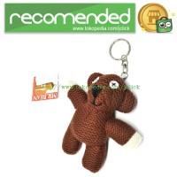 Mr. Bean Teddy Bear Plushy Key Chain / Boneka Gantungan Kunci - Brown