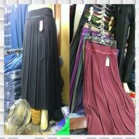 Jual rok kerja wanita muslimah bahan ferari plisket Murah