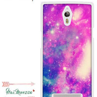 Custom Case Oppo Find 7 Colourfull Galaxy Design