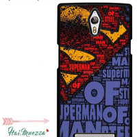 Custom Case Oppo Find 7 Caption Of Superman Design