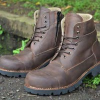 SEPATU BOOTS PRIA / PIEDE LION SLEEP SAFETY BROWN LEATHER PULL UP