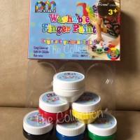 ATK0313PM 6 Warna Washable Finger Paint PAINTMATE Cat Air Jari Anak TK