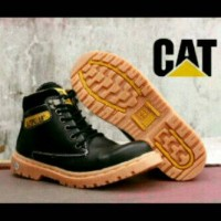 Terlaris Sepatu Boots GROSIR CATERPILLAR SAFETY SHOES Kulit Licin for