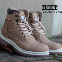Terlaris Sepatu Boots Nike Safety Colorado Warna Cream