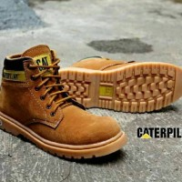 Terlaris Sepatu Boots caterpillar middle NEW list black safety