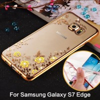 Jual Softcase DIAMOND Samsung S7 Edge Casing Silicone Case Cover Transparan Murah