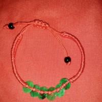 gelang giok tali merah ring