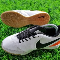 sepatu futsal nike tiempo x genio leather putih ic grade ori import