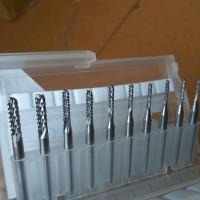 10pcs Mata Bor Ukir Carbide End Mill CNC PCB Rotary Burr 1.3-3.75mm