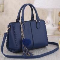 Tas Wanita Import N225034 Navy Handbag Zara Rumbai Fringe Office Bag