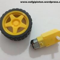 Motor DC + Roda (Untuk Membuat Robot)
