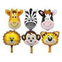 Harga balon foil kepala hewan mini monyet jerapah zebra macan singa   antitipu.com