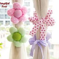 Pengikat Tirai Flower (isi sepasang)