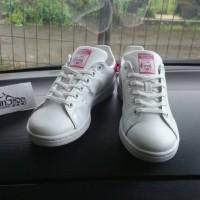 Sepatu Adidas Stan Smith Original White Pink