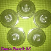 @50pc tutup gelas plastik cembung bening oz pop es buble u cup 10-16oz