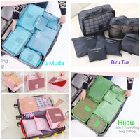 Jual 6in1 Travel organizer polos ( bag in bag laundry storage tas koper Murah