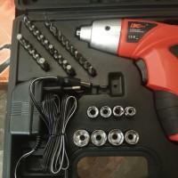 Bor Obeng Elektrik Cordless Multi-function Electric Screwdriver 45pcs