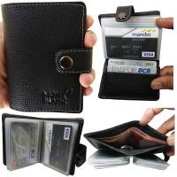 Dompet Kartu Kredit / Dompet ATM Multifungsi Bahan Kulit Sapi ASLI 003