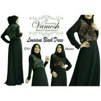 Jual Gamis Maxi Lousiana Black Dress Vamosh Murah