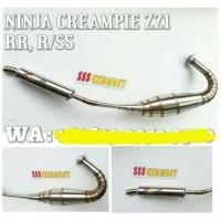 KNALPOT RACING NINJA 150cc 2 TAK CREAMPIE RR,R&SS STAINLEES / PNP