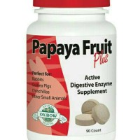 PAPAYA FRUIT PLUS OXBOW vitamin kelinci obat kelinci