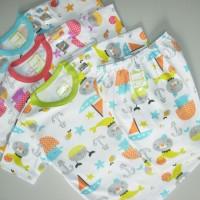 VELVET Setelan Pendek Kancing Bahu XL | Baju Anak 2 - 3 tahun | Piyama