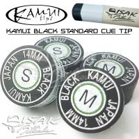 Kamui Black Cue Tip - 14 mm (SS, S, M, H) - Laminated Billiard Biliar