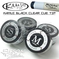 Kamui Black Clear Cue Tip - 14 mm (SS, S, M, H) - Billiard Biliar Tips