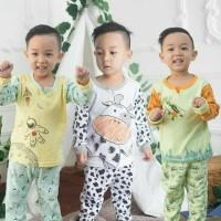3 Setelan Piyama Kazel Boy Xl, Xxl (4-5 / 5-6 Tahun)
