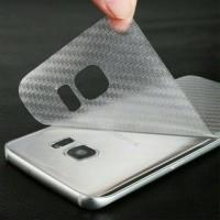 Skin Garskin Carbon Transparan for case Samsung S7 Flat & S7 Edge