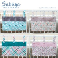 SABIIYA TOYS POCKET toys organiser nursery kamar bayi beddings