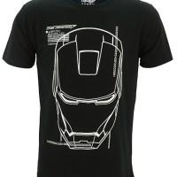 Kaos/Baju Distro Superhero Ironman Jarvis (Glow In The Dark)