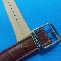 Jual Swatch Strap Fit Size 19mm - Brown Leather - Tali Jam Swatch Kulit Murah