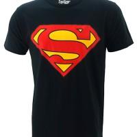 Jual Kaos Baju Distro Superhero Superman Classic Black Murah