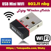 Jual New 150Mbps 150M Mini USB WiFi Wireless Adapter Network LAN Card 802.1 Murah