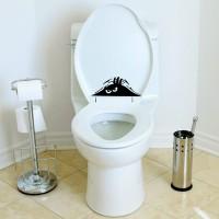 Cutting Sticker Toilet Monster Peeking Stiker Closet Cafe Rumah Kantor