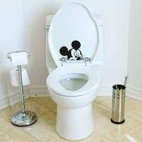 Cutting Sticker Toilet Mickey Stiker Closet Cafe Rumah Kantor Lucu
