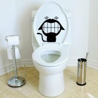 Sticker WC Toilet Cat Stiker Rumah Kantor Toko Kamar Mandi Closet