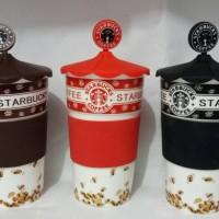 Jual Mug Starbucks Keramik Berkualitas ada Tutup Karet UM Murah