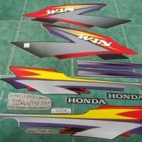 harga Striplis/stiker/lis Body Tangki Komplit Honda Win (merah-abu2) Tokopedia.com