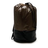 Tas Ransel Puma 074329 01 Archive Bucket Bag - Black-Gold-Graphic